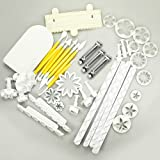 14 Sets Cake Decorating Tools Sugarcraft Model Paste Tool Kit (41 Pcs): Cake Smoother Polisher + Modeling Tools + Various Plunger Fondant Cutters Embossers. Full Sets for Making Cake Decorating More Professional