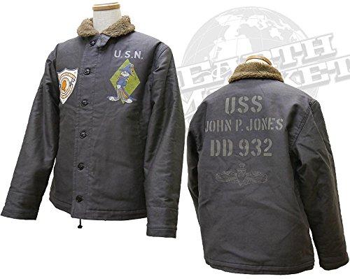 (トイズマッコイ)TOYS McCOY デッキジャケット N-1 チャコールバージョン バッグスバニー ジョン ポール ジョーンズ DECK JACKET CHARCOAL Ver. BUGS BUNNY JOHN P. JONES TMJ1515