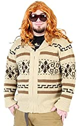 The Big Lebowski Jeffery The Dude Zip Up Costume Cardigan Sweater