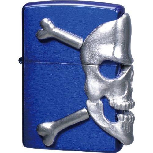 ZIPPO (Zippo) BIG SKULL METAL big / skull / metal skull metal paste porcelain clear paint blue BIG-SKULL (M) Blue