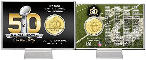Super Bowl Fifty 50th Anniversary Bronze Coin Card