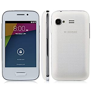 M-HORSE S51 SC8810 Android 4.4 Dual SIM Dual Cameras WIFI Smartphone Mobile Phone Cellphone White