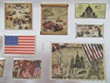 1 x pack vintage style stamps country puffy 3D style decal stickers also for Craft Kids Scrap Books Birthday Cards - By Fat-Catz