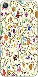 Snoogg seamless floral background Designer Protective Back Case Cover For Micromax Canvas Fire 4 A107