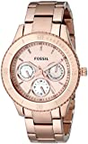 Fossil Women's ES2859 Stainless Steel Analog Dial Watch Rose Gold
