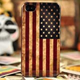 Vintage US American Flag Hard Plastic Case For iPhone 4/4S - Halloween Gift