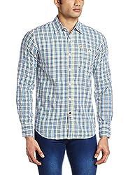 Blumerq Men's Casual Shirt (8907041040199_STRING A 1501W_Medium_110A - Yellow Blue)