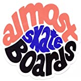 Almost Skateboards 'Hippy' Sticker Orange/Black/Blue