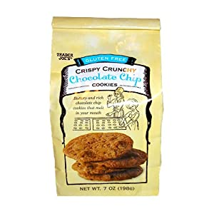 Trader Joes Gluten Free Crispy Crunchy Chocolate Chip Cookies, 2 Packs