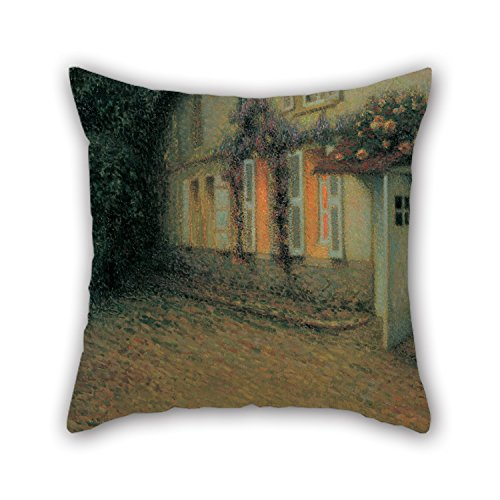 [Artistdecor Oil Painting Henri Le Sidaner - Roses And Wisterias On The House Pillow Covers ,best For Divan,lover,kids Room,monther,girls,play Room 20 X 20 Inches / 50 By 50 Cm(each] (Light Me Up Ladybug Dress Costumes)