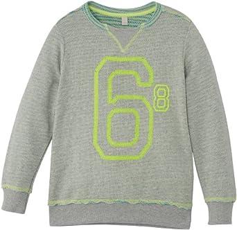 Esprit 024EE8J001 - Sweat-shirt - Garçon - Gris (Gris Chiné) - FR: 7 ans (Taille fabricant: 116/122)