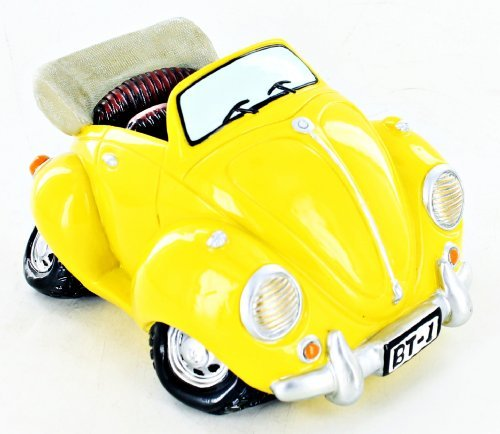 Bank Funny Car Beatle Bug VW Shaped Yellow Adult Children X34702 - 1