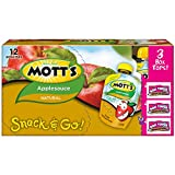 Mott's Snack & Go Natural Applesauce, 3.2 oz pouches (Pack of 12)