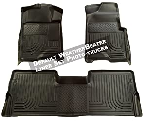 Husky Liners Custom Fit Front and Second Seat Floor Liner Set for Select Lexus RX350/RX450H Models (Black)