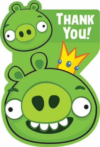 Angry Birds Thank You Notes w/ Envelopes (8ct) - 1