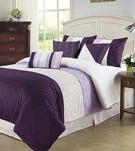 Cozy beddings tayler 7 piece comforter set - Light purple comforter set ...