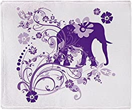 CafePress Elephant Swirls Purple Throw Blanket - Standard Multi-color