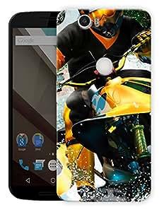 "Jet Ski Sports Printed Designer Mobile Back Cover For ""Google Nexus 6 Plus"" By Humor Gang (3D, Matte Finish, Premium Quality, Protective Snap On Slim Hard Phone Case, Multi Color)"