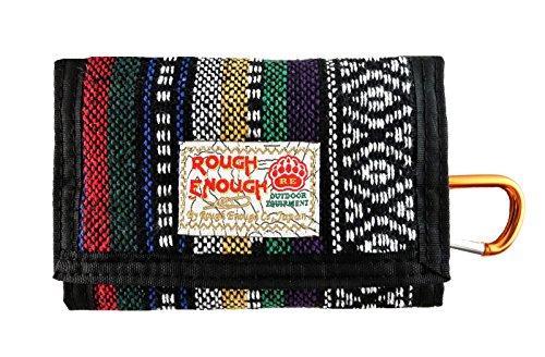Rough Enough® Vintage Nero Folk cotone Casual Mini Portafoglio