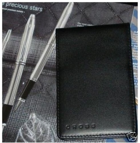Luxury black leather 3x5 genuine new cross jotter pad New Cross Leather Jotter is perfect for a quick reminderB001D3A2NI