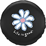 Life is good. Good Times Tire Cover - Daisy - Black