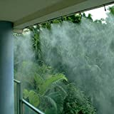 ミスト シャワー 蛇口取付 アダプター 付き 使い方自由 5m または 10m 選べます。 軒下 ガーデニング 歩道 菜園 (10m)