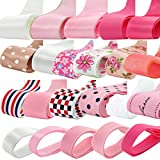 Imported Phenovo Grosgrain Ribbon Mixed Pattern for Crafts DIY 22pcs Multi-color
