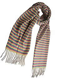 100% Cashmere Scarf From Inner Mongolia in Multicolor hcs-002