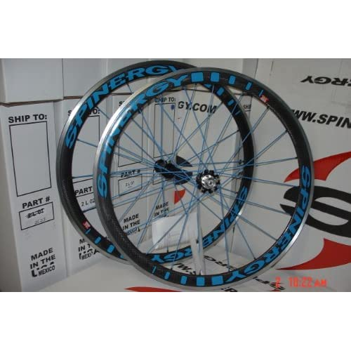 Amazon.com : Spinergy Stealth PBO Carbon Blue Wheelset/Shimano/700c