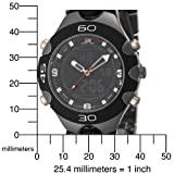 U.S. Polo Assn. Men's US8083 Gun Metal/Black Plastic Analog-Digital Sporty Bracelet Watch