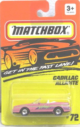 Matchbox 'CADILLAC ALLANTE 1993 #72 Get in the Fast Lane VERY RARE - 1