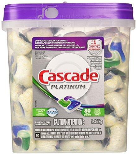 Cascade Platinum Pacs Dishwasher Detergent, Fresh Scent (80 pacs) (Cascade Packs compare prices)