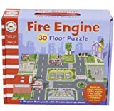 CHILDRENS TODDLER GIANT FLOOR JIGSAW PUZZLES CARRY CASE TOY (3D FIRE ENGINE)