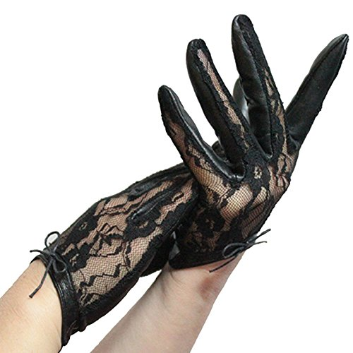 ezyoutdoor-women-ladys-leather-printing-lace-driving-fingerless-gloves-uv-protection-for-outdoor-rid