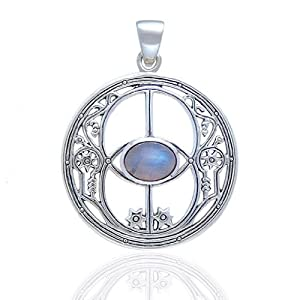 Sterling Silver 3D Moveable Compass Silver Charm on Sterling Silver Carded Box Chain Necklace 18
