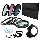 67mm Macro Kit Includes: 4pc. Close-Up Macro Filters + 3pc. Filter Kit (UV, CPL, FLD) For Nikon Df, D7100 D7000 D5300 D5200 D5100 D3200 D3100 D800 D700 D600 D610 D810 D300S D90 Canon EOS 5D Mark III, EOS-1D X, 6D 7D 60D, 70D, T5i, T4i, SL1, T3i, T3, EOS M