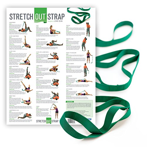 OPTP Stretch Out Strap with Stretching Exercise Poster