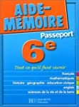 Aide-Mmoire Passeport : 6e - 11-12 ans