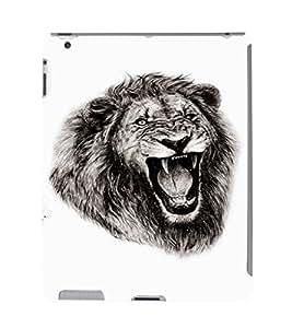 EPICCASE Lion roar Mobile Back Case Cover For Apple Ipad 2/3/4 (Designer Case)