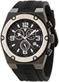 Swiss Legend Mens 30025-BB-01-SB Throttle Chronograph Black Dial Watch