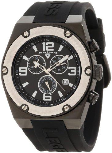 Swiss Legend Men's 30025-BB-01-SB Throttle Chronograph Black Dial Watch
