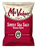 Miss Vickies Kettle Cooked Potato Chips, Simply Sea Salt, 1.375-Ounce Large Single Serve Bags (Pack of 64)
