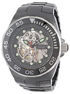 Android Men's AD550AKS Hercules Ceramic Skeleton, Seagull TY2809 Silver Tone Skeletonized Automatic Movement 21 Jewels Watch
