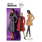 Butterick Patterns B5966 Misses'/Women's Jacket, Coat and Belt Sewing Templates, Size B5 (8-10-12-14-16)