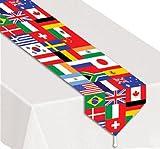 Printed International Flag Table Runner 11 Inches x 6 Feet