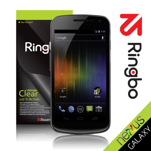 Rearth Ringbo Verizon Galaxy Nexus [Ultimate Clear] Screen Protector Cover Film with SHIPPING(2-3days)+Tracking+Warranty