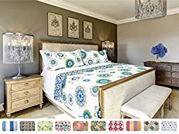 The CONNECTICUT HOME COMPANY Luxury Quilt Collection, Reversible, 3-Piece Set, Top Choice by Decorators, Many Sizes and Patterns, All Season Weight, Machine Washable (Sapphire - King)