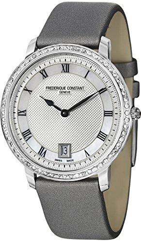 FREDERIQUE CONSTANT Reloj Delgado para Dama 37MM Gris Satín Correa FC-220M4SD36