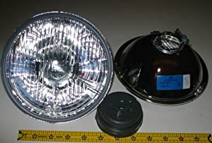 """Hella 7"""" Round E Code H4 Halogen Replacement Headlight Kit with 100/80W Bulbs"""