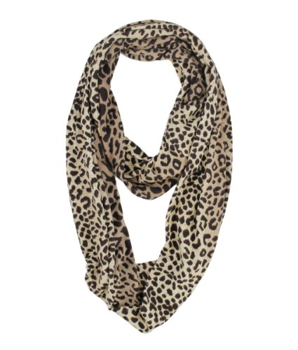 Modadorn Leopard Print Tie Dye Circular Infinity Brown Scarf Women'S Fashion, Clothing & Accessories